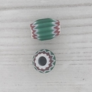 8mm Green Venetian rosette bead with 4 layers (1940s)