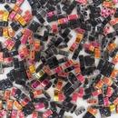 Black Marea Half Tila Beads (HTL4560)