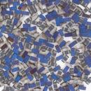 Matt Crystal Azuro Half Tila Beads (HTL4556)