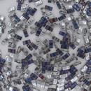 Crystal Heliotrope Half Tila Beads (HTL55099)