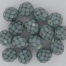 15 x 8mm snake skin beads in Hemlock Green