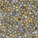 50 x 4mm faceted Golden Rainbow beads