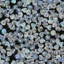 25 x button beads in Full Crystal AB