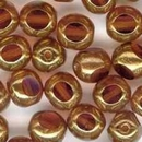 10 x 6mm three cut beads in Topaz/Bronze