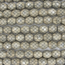 8mm string of snake skin beads in Sand