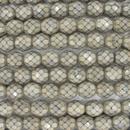 19 x 8mm snake skin beads in Sand