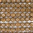 8mm string of snake skin beads in Amber