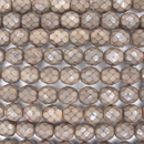 19 x 8mm snake skin beads in Mushroom