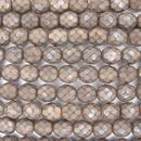 8mm string of snake skin beads in Mushroom