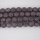 8mm string of snake skin beads in Salmon