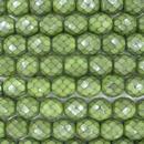 8mm string of snake skin beads in Olivine Green
