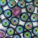 14mm Magic Blue Dome Beads