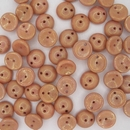 25 x piggy beads in Red Lustre