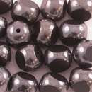 10 x 8mm three cut beads in Black/Gunmetal