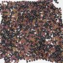 5g Size 15/0 Miyuki seed beads in Black Sliperit