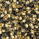 50 x pinch beads in Black Amber (3x5mm)