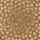 50 x Matt Metallic Flax two hole CzechMate Triangles