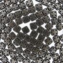 50 x Metallic Suede Dark Green CzechMate QuadraTiles