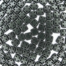 50 x Metallic Suede Dark Forest CzechMate QuadraTiles