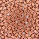 50 x Matt Metallic Copper two hole CzechMate Triangles