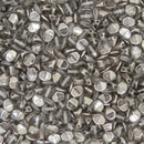 50 x pinch beads in Crystal/Chrome (3x5mm)