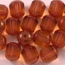 8mm Topaz / Bronze Window beads