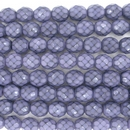 8mm string of snake skin beads in Dark Orchid