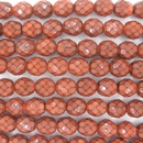 8mm string of snake skin beads in Chocolate