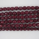 25 x 6mm snake skin beads in Dark Red