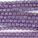 6mm string of snake skin beads in Lilac