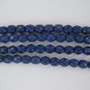 25 x 6mm snake skin beads in Cobalt