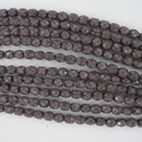 38 x 4mm snake skin beads in Salmon