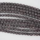 4mm string of snake skin beads in Salmon