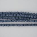 4mm string of snake skin beads in Denim Blue