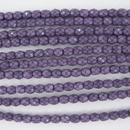 4mm string of snake skin beads in Lilac