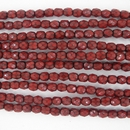 38 x 4mm snake skin beads in Dark Coral