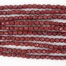 4mm string of snake skin beads in Dark Coral