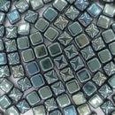 6mm Black Celsian Full square Silky beads