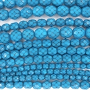 4mm string of snake skin beads in Bright Turquoise