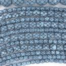 4mm string of snake skin beads in Light Blue