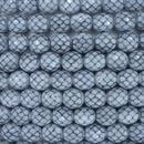 19 x 8mm snake skin beads in Fog Blue