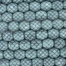 10mm string of snake skin beads in Hemlock Green