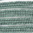38 x 4mm snake skin beads in Hemlock Green