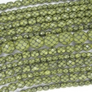 15 x 10mm snake skin beads in Lime Green