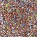 Copper Rainbow Half Tila Beads (HTL55020)
