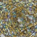 Golden Rainbow Half Tila Beads (HTL55023)