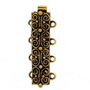 Claspgarten Old Gold clasp with 4 rows 13495 - 25x7mm