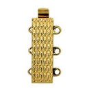 Claspgarten Gold clasp with 3 rows 13613 - 19x6mm