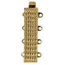 Claspgarten Gold clasp with 4 rows 13613 - 24x6mm