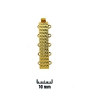 Claspgarten Gold clasp with 5 rows 13613 - 30x6mm